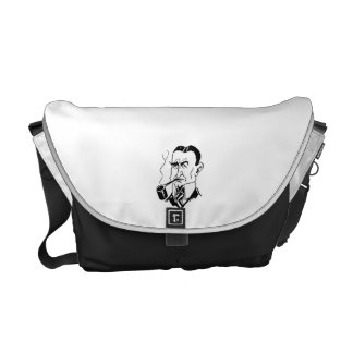 Caricature Charles Gates Dawes Messenger Bags