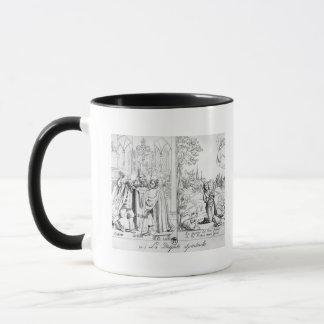 Caricature depicting a Spiritual Dispute Mug