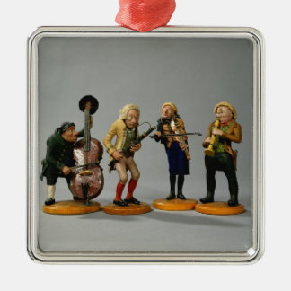 Caricature figurines of musicians christmas ornament