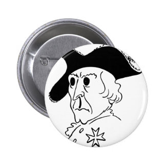 Caricature Frederick the Great 6 Cm Round Badge