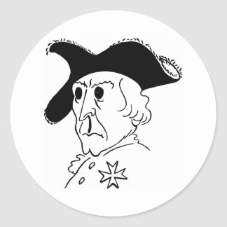 Caricature Frederick the Great Round Sticker