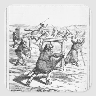 Caricature from 'Le Charivari' Square Sticker