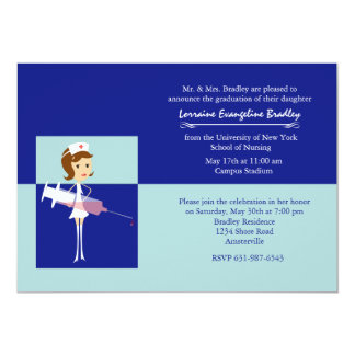 Caricature Nurse Graduation Invitation