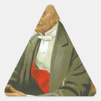 Caricature of Admiral Sir Hastings Reginald Triangle Sticker