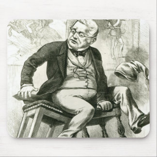 Caricature of Adolphe Thiers  between two Mouse Pad