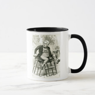 Caricature of Adolphe Thiers  between two Mug