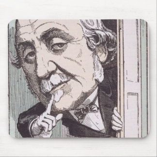 Caricature of Albert, Duc de Broglie Mouse Mat