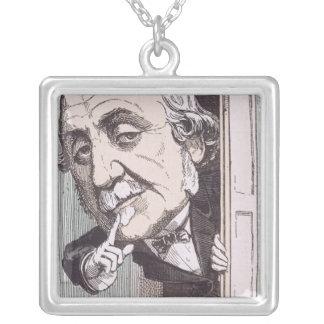 Caricature of Albert, Duc de Broglie Silver Plated Necklace
