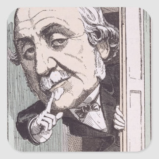 Caricature of Albert, Duc de Broglie Square Sticker