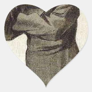 Caricature of Anthony John Mundella James Tissot Heart Sticker