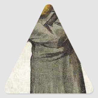 Caricature of Anthony John Mundella James Tissot Triangle Sticker