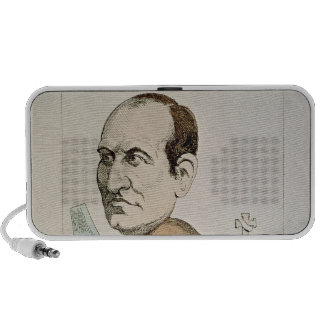 Caricature of Baron Georges Eugene Haussmann Laptop Speaker