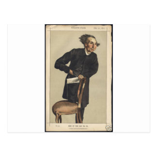 Caricature of Charles Voysey by James Tissot Postcard