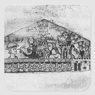 Caricature of English Jews, from a Haggadah Stickers