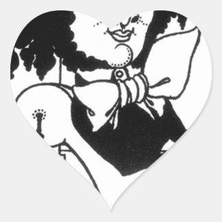 Caricature of Felix Mendelssohn by Aubrey Beardsle Heart Sticker