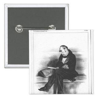 Caricature of Francois Guizot , 'La 15 Cm Square Badge