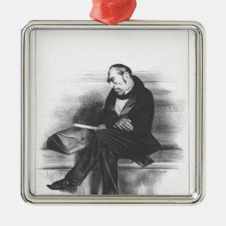 Caricature of Francois Guizot , 'La Silver-Colored Square Decoration