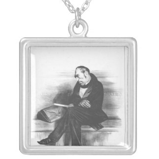 Caricature of Francois Guizot , 'La Silver Plated Necklace
