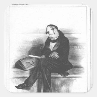 Caricature of Francois Guizot , 'La Square Stickers
