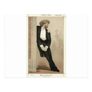 Caricature of Frederic Leighton by James Tissot Postcard