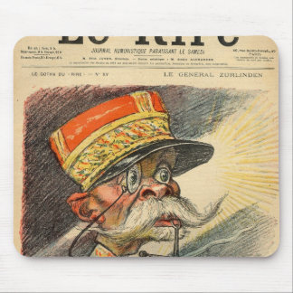 Caricature of General Zurlinden Mouse Mat