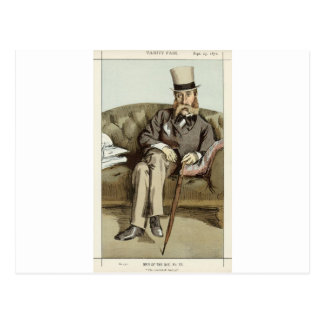 Caricature of George Whyte Melville James Tissot Postcard