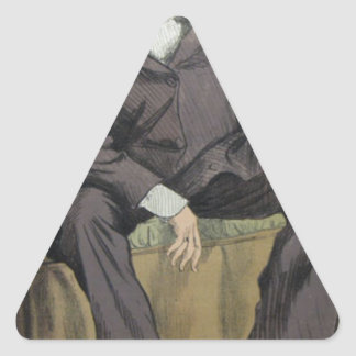 Caricature of George William Pierrepont Bentinck Triangle Sticker