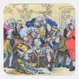 Caricature of Georgian Surgeons at work, 1793 Sticker