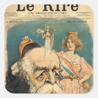 Caricature of Henri Brisson, Square Sticker