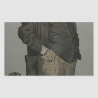 Caricature of Henry Cole by James Tissot Rectangular Sticker