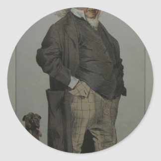 Caricature of Henry Cole by James Tissot Round Sticker