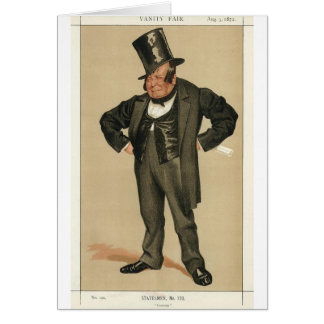 Caricature of James Delahunty M.P. by James Tissot Greeting Card