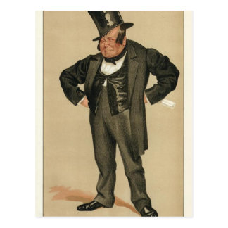 Caricature of James Delahunty M.P. by James Tissot Postcard