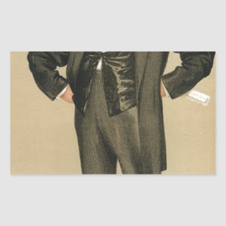 Caricature of James Delahunty M.P. by James Tissot Rectangular Sticker