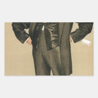 Caricature of James Delahunty M.P. by James Tissot Rectangular Sticker