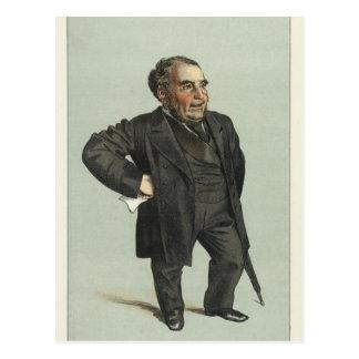 Caricature of John Pender by James Tissot Postcard