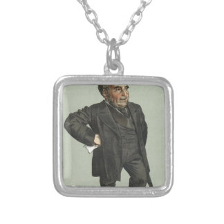 Caricature of John Pender by James Tissot Silver Plated Necklace