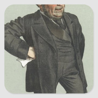 Caricature of John Pender by James Tissot Square Sticker