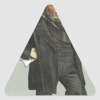 Caricature of John Pender by James Tissot Triangle Sticker