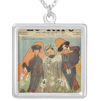 Caricature of Joseph Reinach Silver Plated Necklace