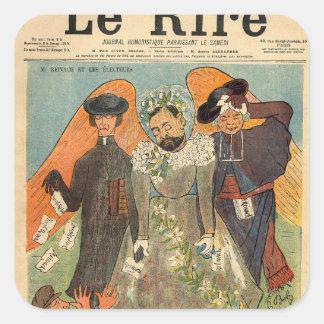 Caricature of Joseph Reinach Stickers