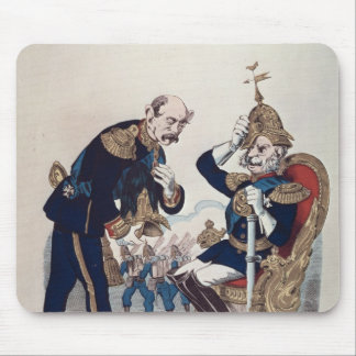 caricature of Kaiser Wilhelm  of Prussia Mouse Mat