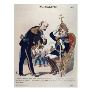 caricature of Kaiser Wilhelm  of Prussia Postcard