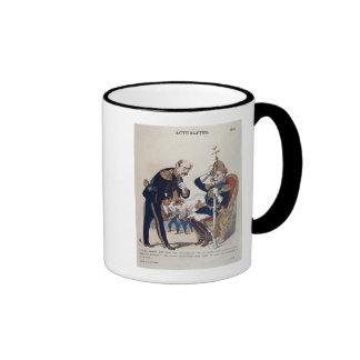 caricature of Kaiser Wilhelm  of Prussia Ringer Mug