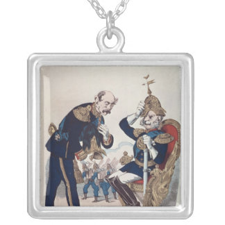 caricature of Kaiser Wilhelm  of Prussia Silver Plated Necklace