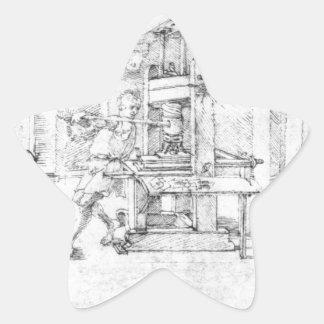 Caricature of Lazarus Spengler by Albrecht Durer Star Sticker