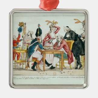 Caricature of Louis XVI  playing chess Christmas Ornament
