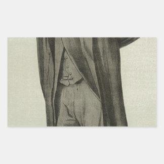 Caricature of Matthew Arnold by James Tissot Rectangular Sticker