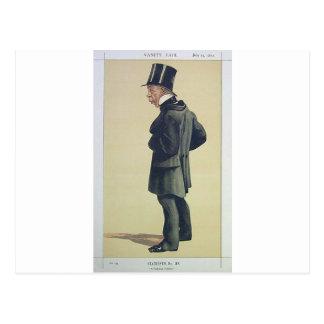 Caricature of Mr George Leeman M.P. James Tissot Postcard