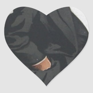 Caricature of Mr Lionel Lawson by James Tissot Heart Sticker